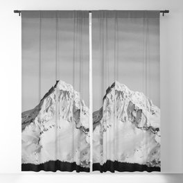 Mount Hood - Snow Capped Mountain Adventure Nature Photography Blackout Curtain