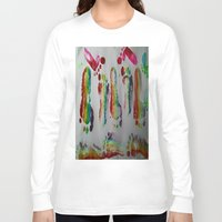 duvet cover Long Sleeve T-shirts featuring FOOTSTEPS DUVET COVER DESIGN by aztosaha