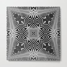Black & White Tribal Symmetry Metal Print