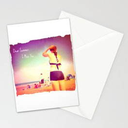 Dear Summer, I Miss You Stationery Cards