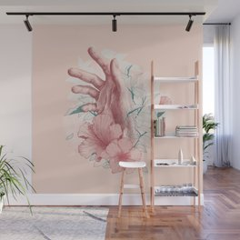 Flora in hand Wall Mural