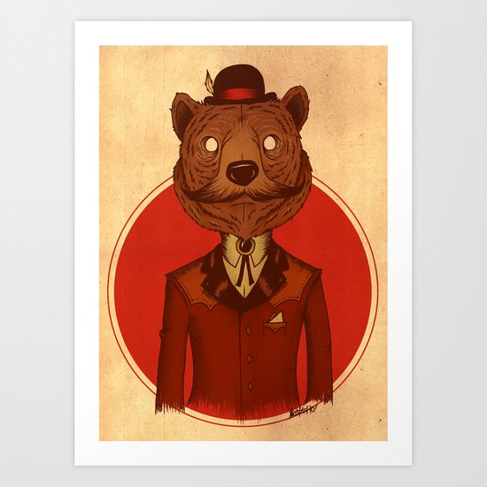 {Bosque Animal} Oso Art Print