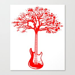 Electric Guitar Tree Cool Guitarist Musician Player Canvas Print