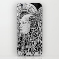 robot iPhone & iPod Skins featuring Robot by Walid Aziz