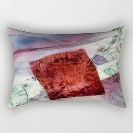 Carré rouge Rectangular Pillow