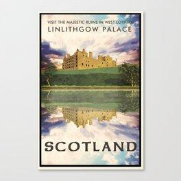 Linlithgow Castle and Lake, Scotland Canvas Print