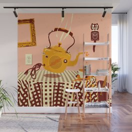 ORANGE TEA SPILL Wall Mural