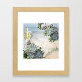Succulent Hues of Pale Blues Framed Art Print