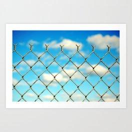 Boston Fence Art Print