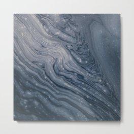 Marble World Metal Print