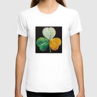irish T-shirts featuring Irish Shamrock by Michael Creese