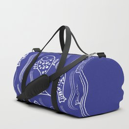 Fishes in the water pattern, fishes design, navy blue design, Duffle Bag