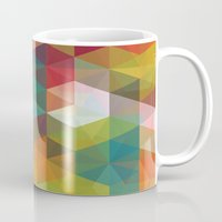 transparent Mugs featuring Transparent Cubism by All Is One