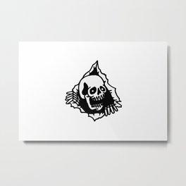 Skull Tearing up Metal Print