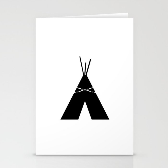Black White Teepee Stationery Cards By Olaholahola Society6