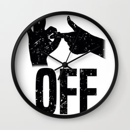 Fuck Off Fuck You Sign Language Gift Wall Clock