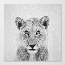 Lioness II - Black & White Canvas Print
