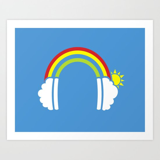 Rainbowphones Art Print