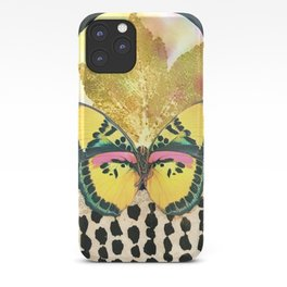 Butterfly EcoPrint Full Moon iPhone Case