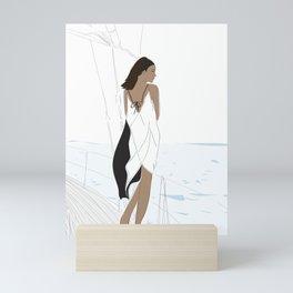 Joan Smalls Yacht Life Mini Art Print