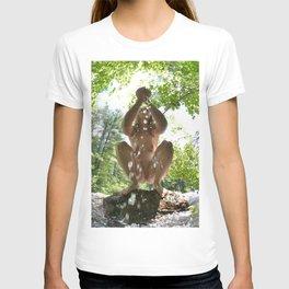 3116-KJ Water of Life Feminine Power Bathing in Nature Pure Water T-shirt