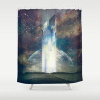 fault Shower Curtains featuring It´s your fault by HappyMelvin