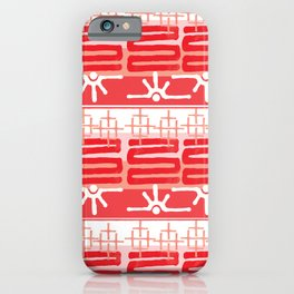 AZTEC pattern in coral iPhone Case