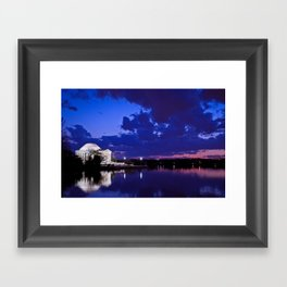 Jefferson Memorial After Sunset Framed Art Print