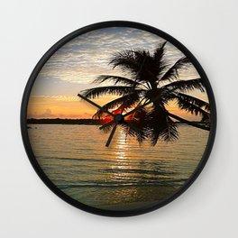 Maledives - Sunset Wall Clock