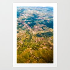 Land from the sky Art Print
