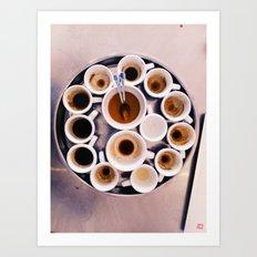Espresso Cupping Art Print