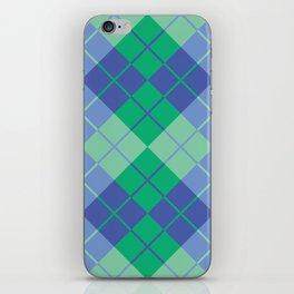 Blue-Green Argyle iPhone Skin
