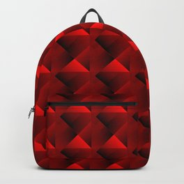 Optical pigtail rhombuses from red squares in the dark. Backpack