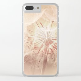 Pink Dandelion Flower - Floral Nature Photography Art and Accessories Clear iPhone Case