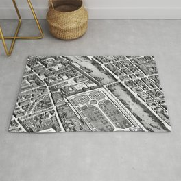 Map of Paris 1793 Rug