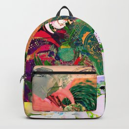 Virtually Surreal Degrees 4D Brick Leaf View No. 2 by Oli Goldsmith Backpack