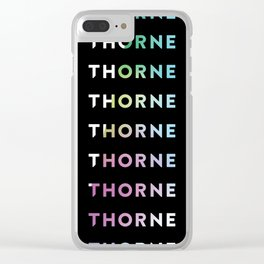 Logo Gradient Clear iPhone Case