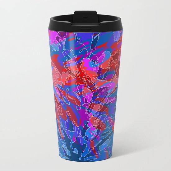 exploding coral Metal Travel Mug