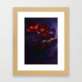 Halloween Witch Framed Art Print