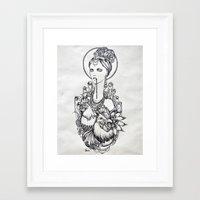 ferret Framed Art Prints featuring Ferret by Anka Lavriv