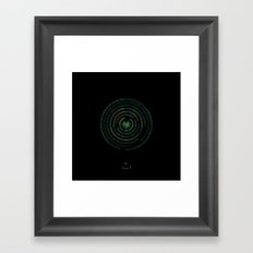 Spectrographic Portrait of the King of Limbs #1 Framed Art Print