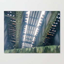 Under The Rail Bridge Canvas Print