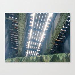 Under The Rail Bridge Canvas Print