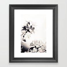Black and White Flowers 2 Framed Art Print