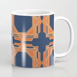 Blue & Orange Fretwork Coffee Mug