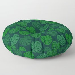 Swiss Cheese Plant Monstera Deliciosa Design Floor Pillow