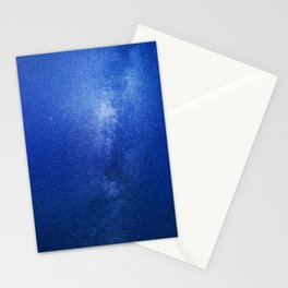 Looking up into the milkyway galaxy Stationery Cards