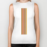 stripe Biker Tanks featuring stripe by Kurt Cyr