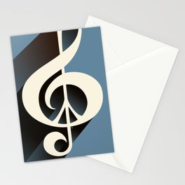 Steal Blue Retro Music & Peace Stationery Cards