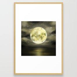 dear moon Framed Art Print